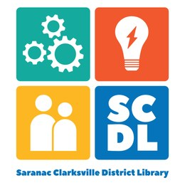 SARANAC CLARKSVILLE DISTRICT LIBRARY Logo